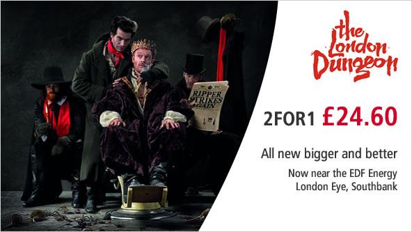 Скидка 2 for 1 доступна практически на все популярные развлечения Великобритании