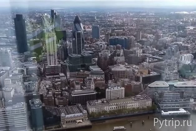 вид с The Shard London Bridge