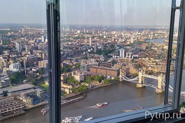 вид с The Shard London Bridge