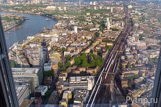 на Лондон с небоскреба Шард