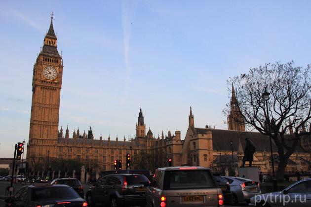 Вестминстерский дворец  с площади Парламента
