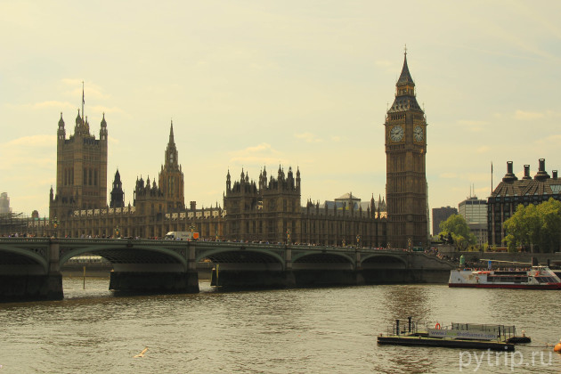 Вестминстерский дворец с другой стороны Темзы