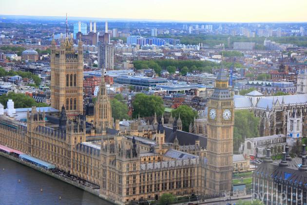 Вестминстерский дворец с Глаза Лондона