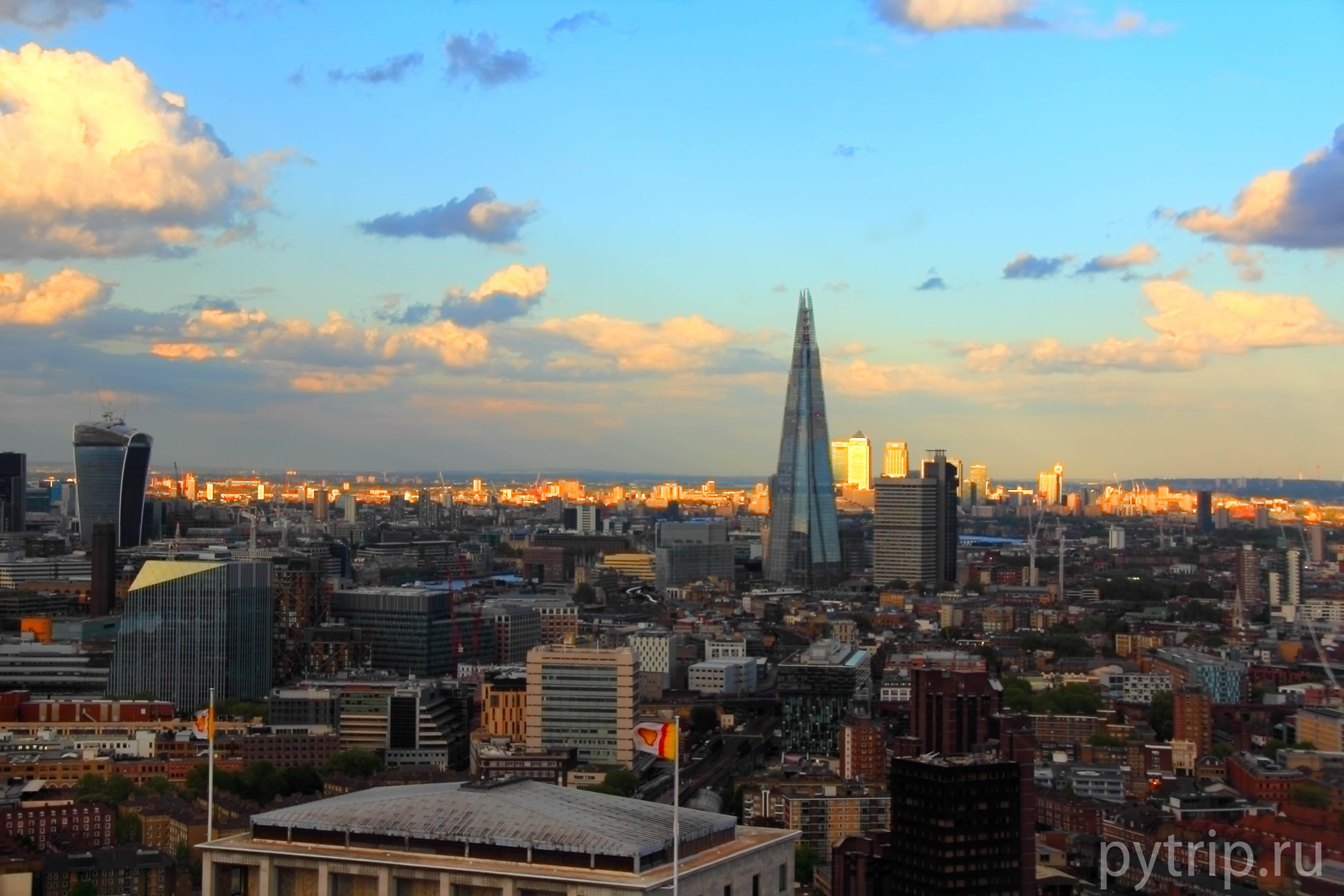 Вид с Глаза Лондона