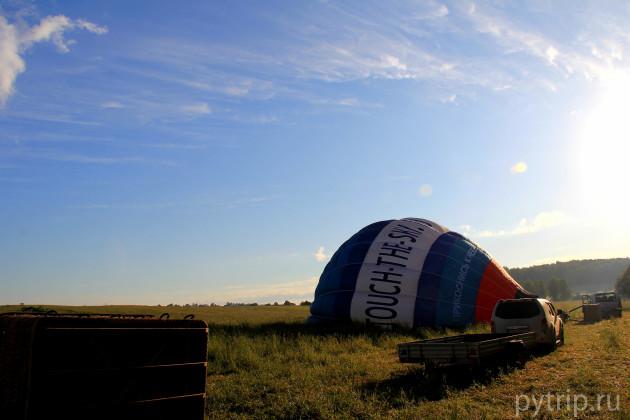 Расправляем воздушный шар