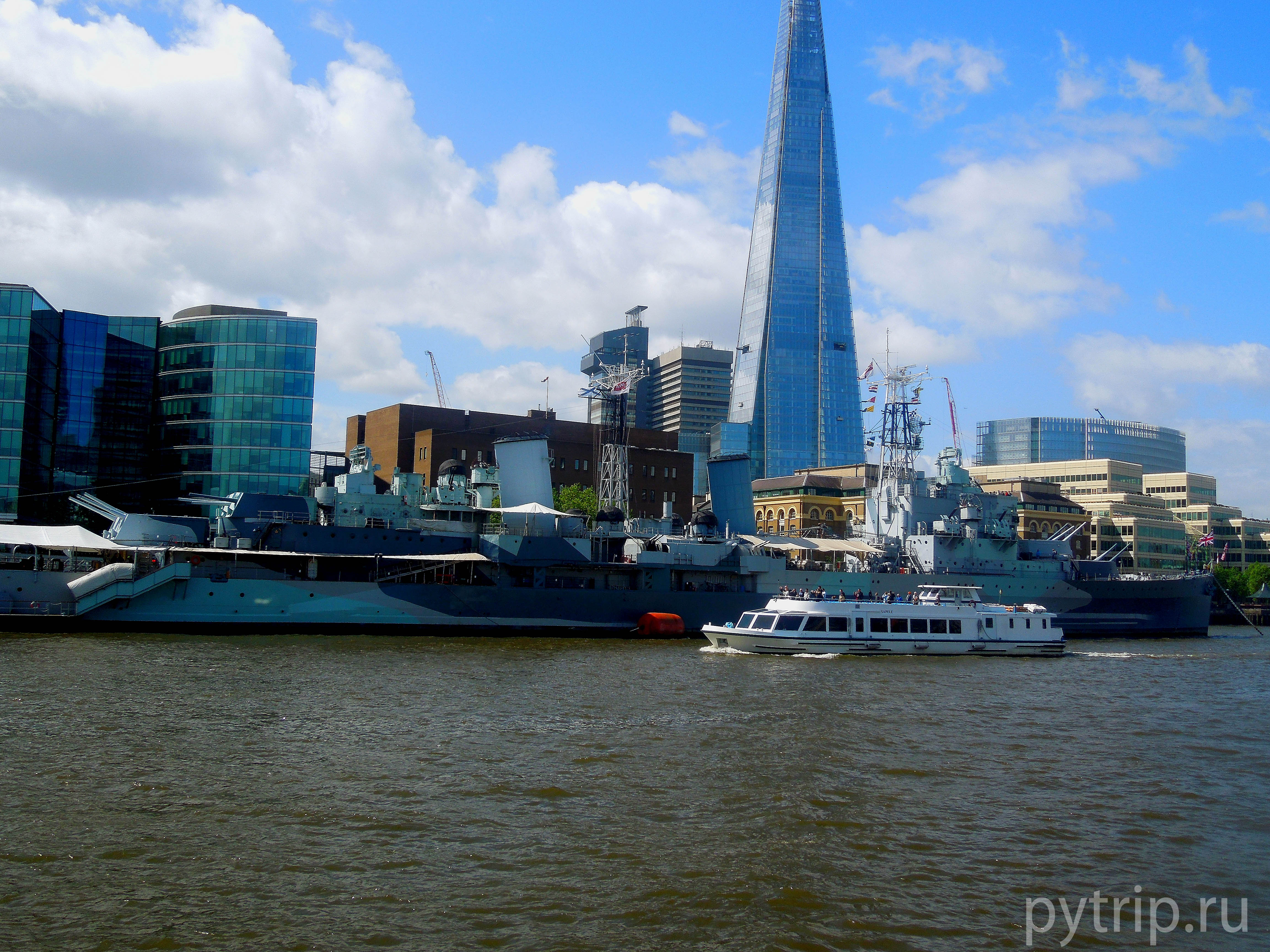 Небоскреб The Shard и крейсер Белфаст