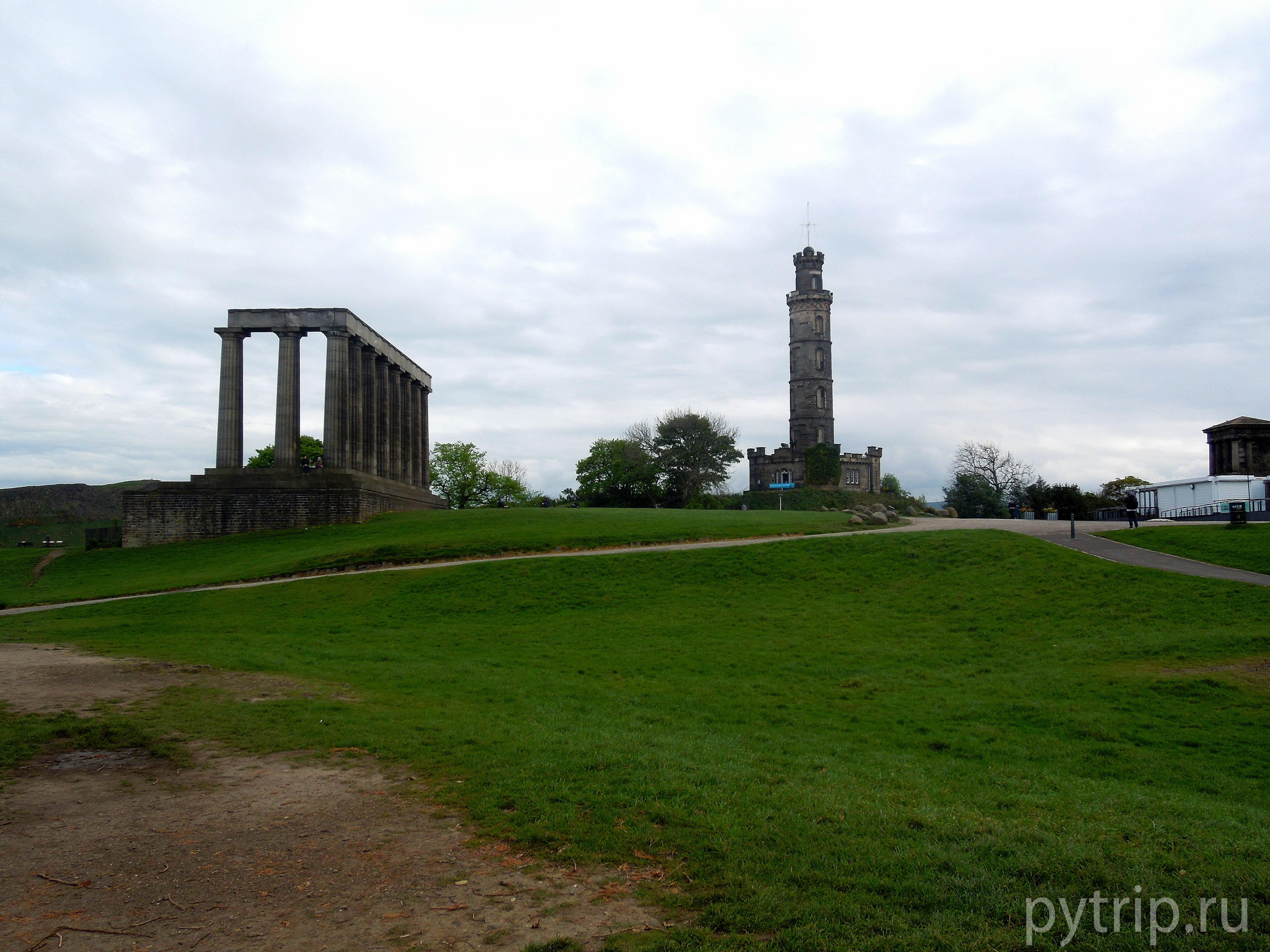 Панорама на башню Нельсона и национальный монумент