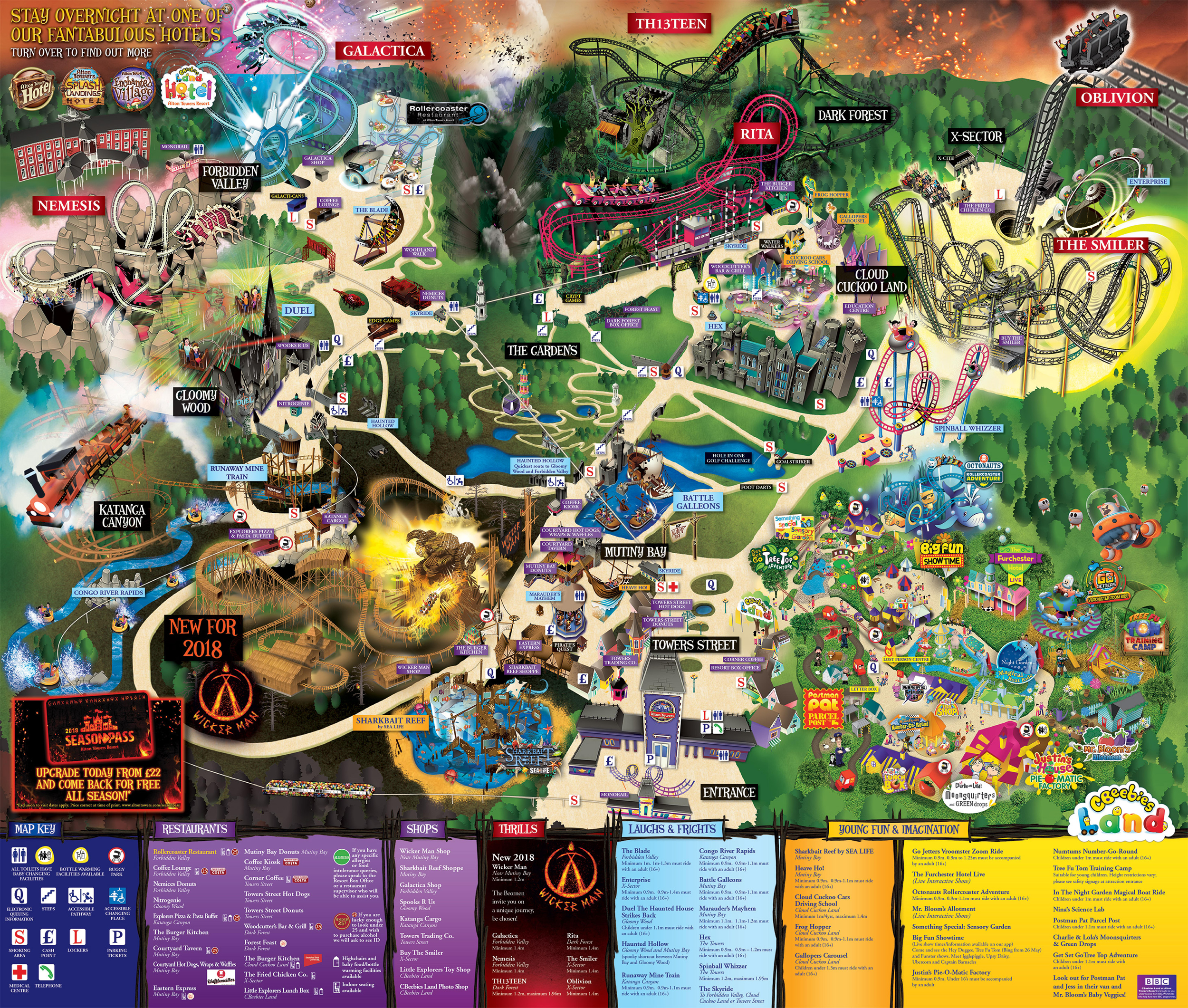 карта Alton Towers
