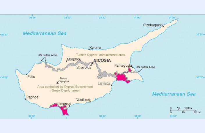 карта военных баз кипра