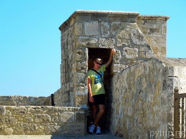 наверху замка Ларнаки