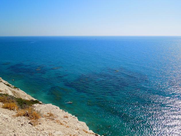 Скалистые берега Кипра.