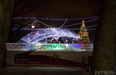 Выставка ледяных скульптур в саду Эрмитаж «В кругу семьи» 2015 года