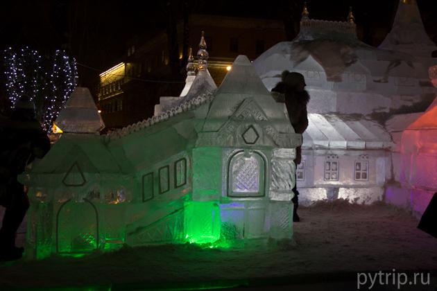 сад ледяных скульптур