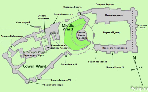 карта виндзора