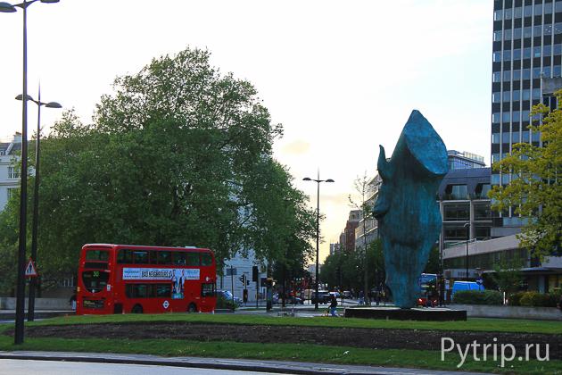 Автобусы в центре Лондона