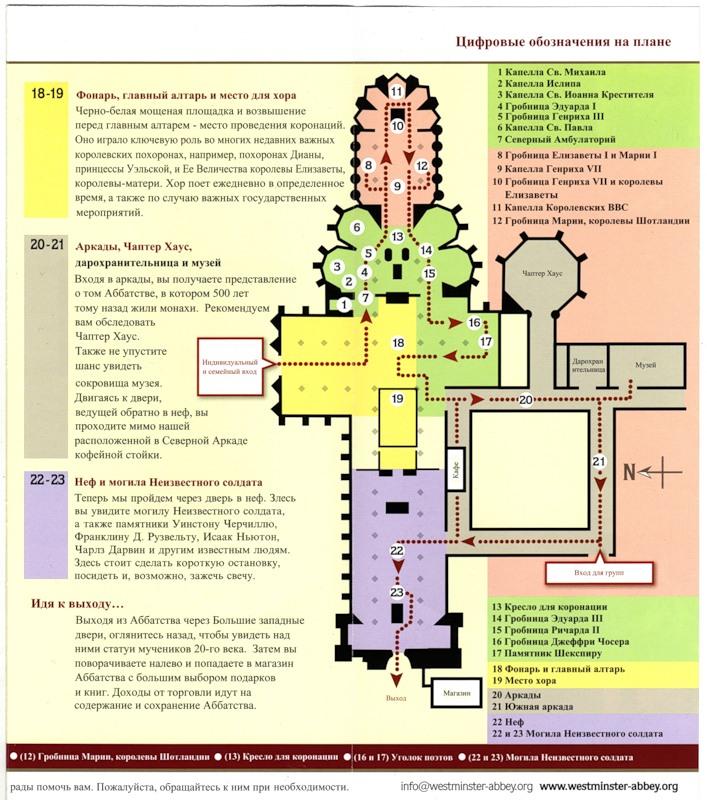 карта вестминстерского аббатства