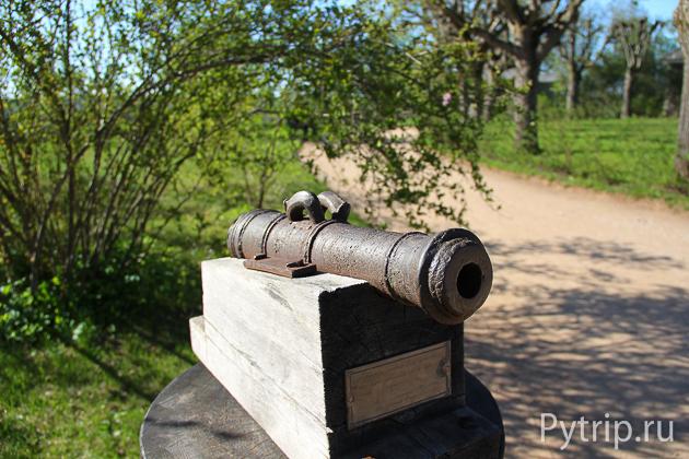 Салютная пушка в Михайловском
