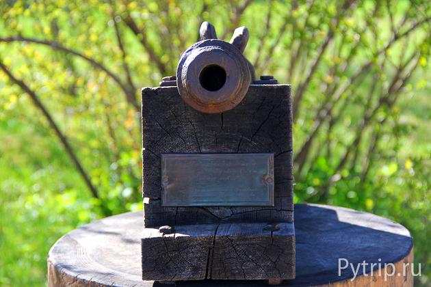 Пушка в Михайловском заповеднике