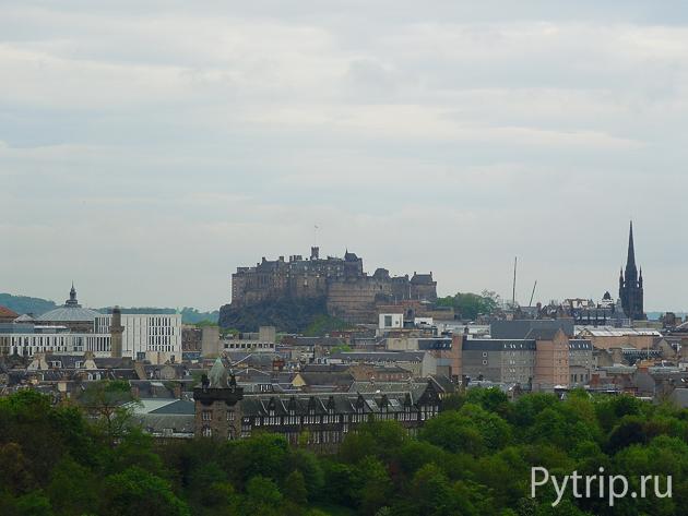 Эдинбургский замок с Седла Артура