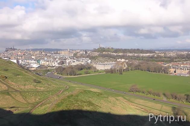 Эдинбург с вершины Трона Артура