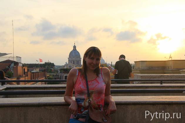 Вид на Ватикан с Испанской лестницы
