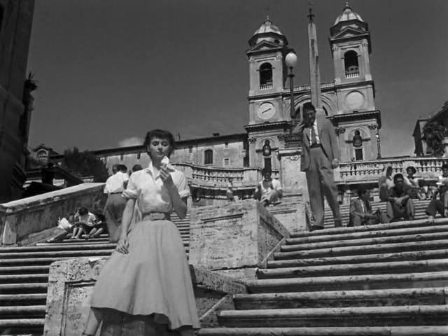 Испанская лестница в Римских каникулах