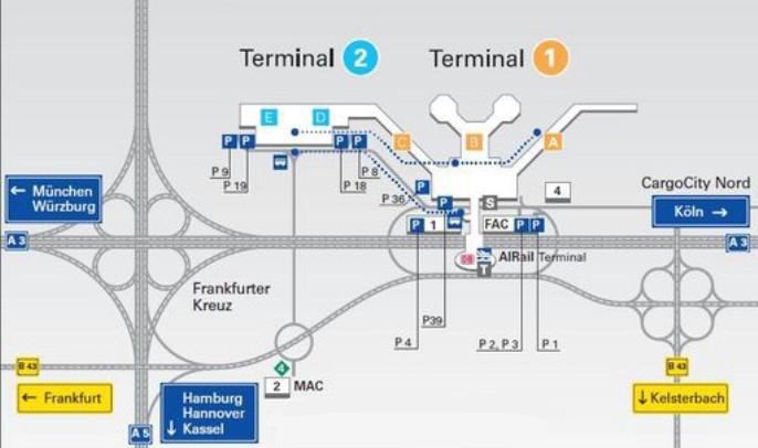Парковки в аэропорту Франкфурта