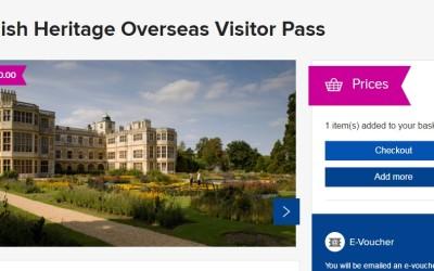 Карточка Overseas Visitor Pass и членство в English Heritage