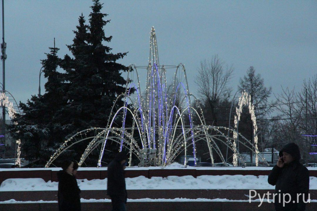 Световые фонтаны на Поклонной горе