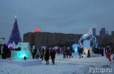 Как мы побывали в Ледяной Москве на Поклонной горе